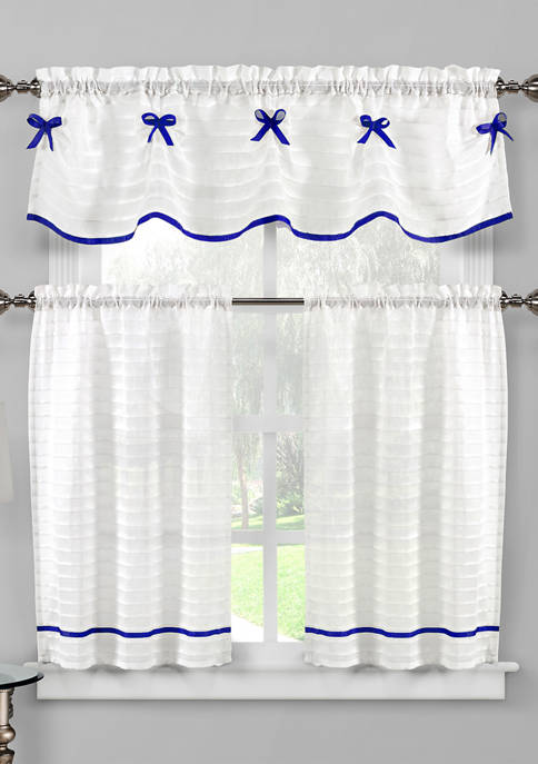 Home Maison Carlee Solid Kitchen Curtain and Tier