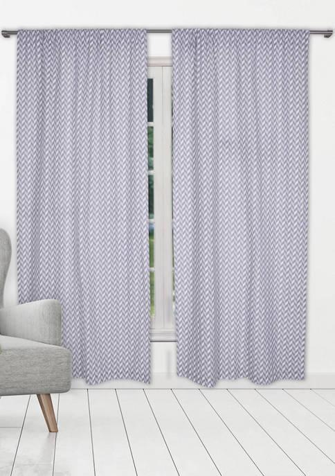Kensie Set of 2 Caspian Printed Cotton Window