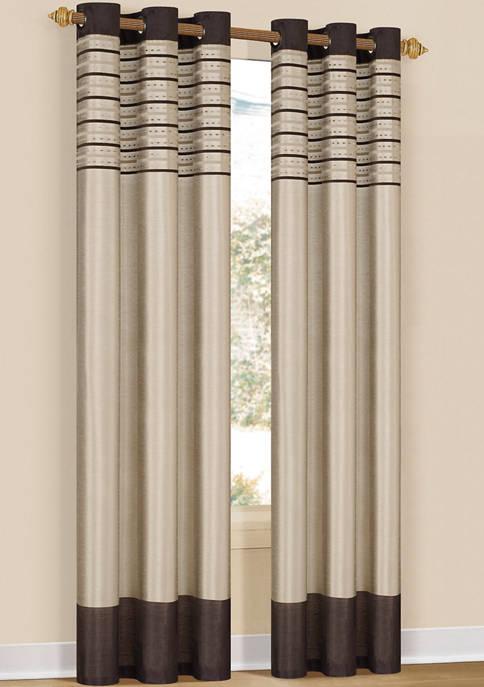 Duck River Textile Cityscape Striped Window Curtain Set