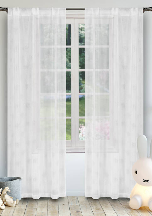 Lala + Bash Clarice Solid Window Curtain Set