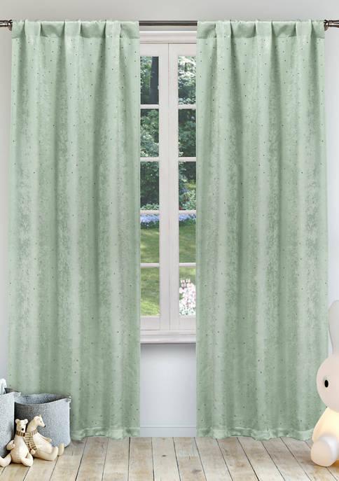 Danielle Solid Blackout Curtain Set