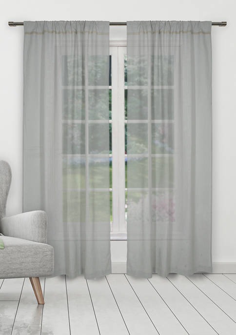 Home Maison Desideria Solid Window Curtain Set
