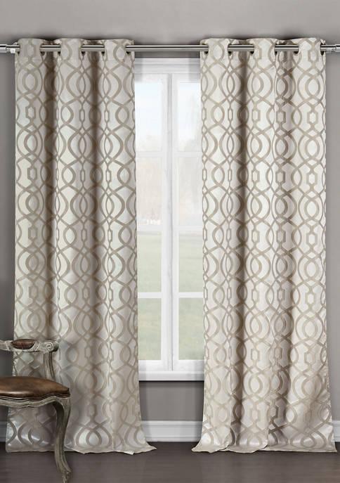 Duck River Textile Harris Geometric Window Curtain Set