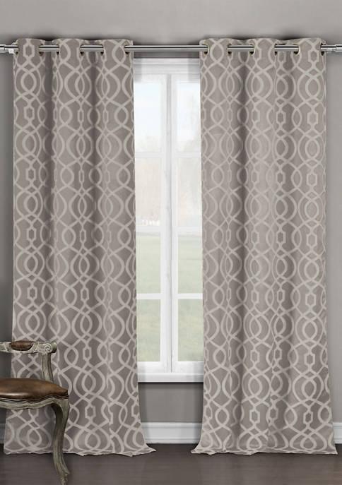 Harris Geometric Blackout Curtain Set