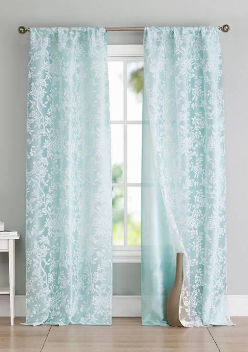 Duck River Textile Heidilee Floral Window Curtain Set
