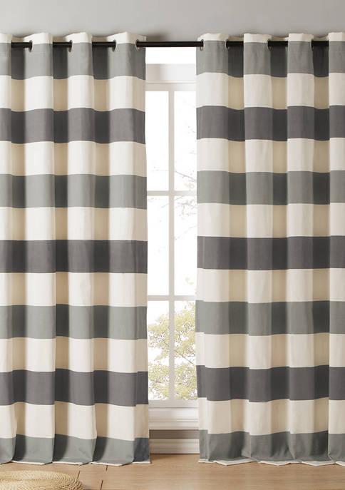 Kensie Iouri Stripe Cotton Window Curtain Set