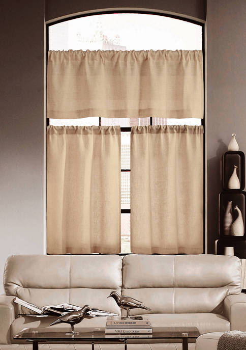 Home Maison Keighley Solid Kitchen Curtain and Tier