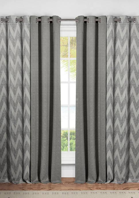 Kelvin Kelda Stripe Window Curtain Set