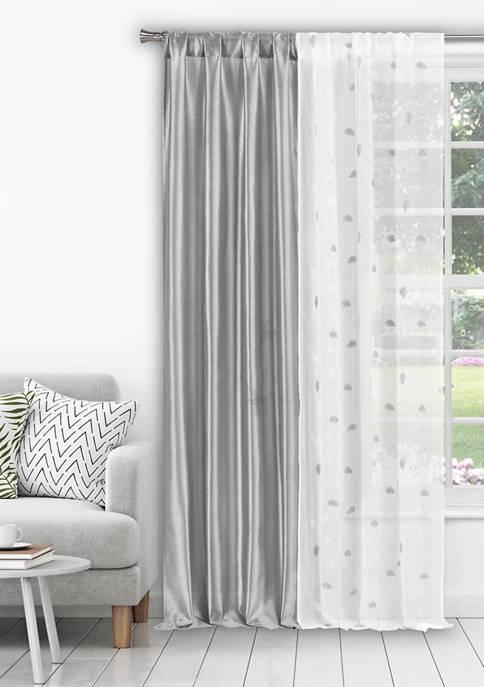 Home Maison Kiralina Floral Window Curtain Set