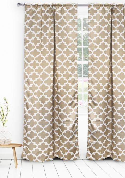 Lkyra Geometric Blackout Curtain Set
