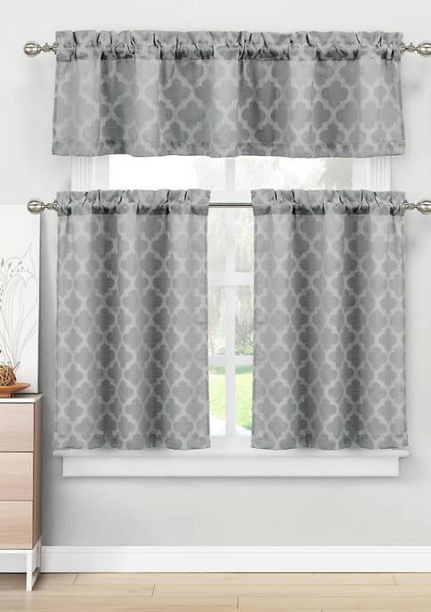Home Maison Longoria Geometric Kitchen Curtain & Tier