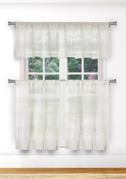 Loretta Stripe Kitchen Curtain & Tier Set
