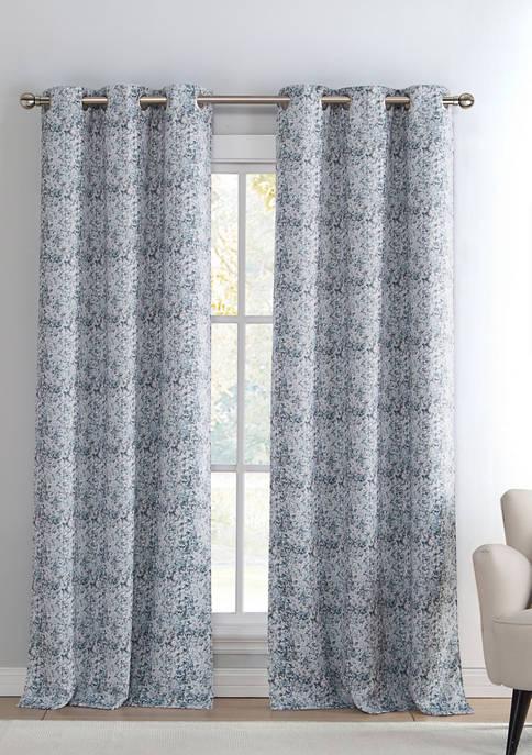 Kensie Mae Print Blackout Curtain Set