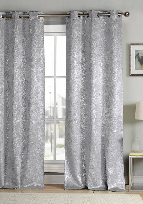 Kensie Maddie Metallic Specks Blackout Curtain Set