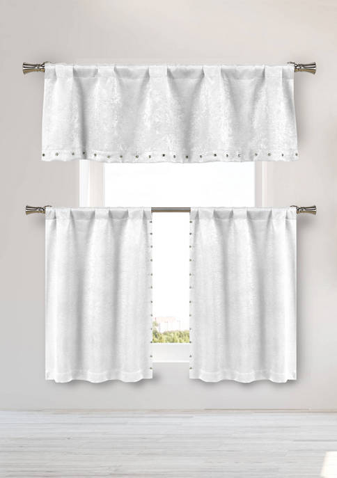 Kelvin Marcy Solid Blackout Kitchen Curtain Set