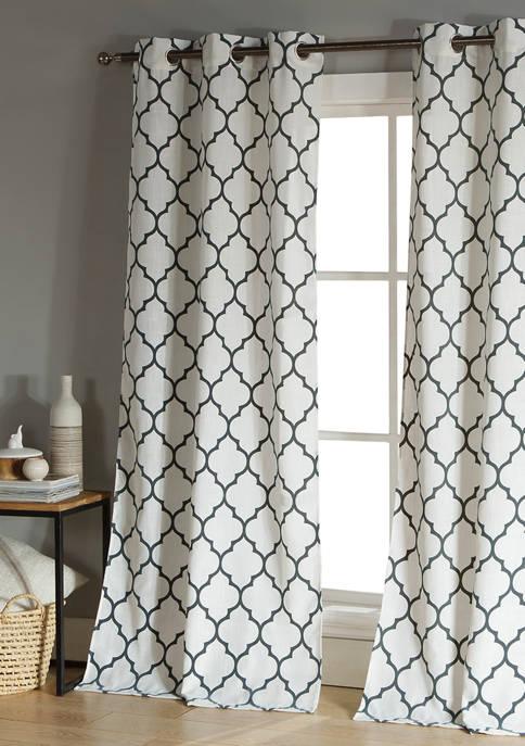 Duck River Textile Mason Geometric Window Curtain Set