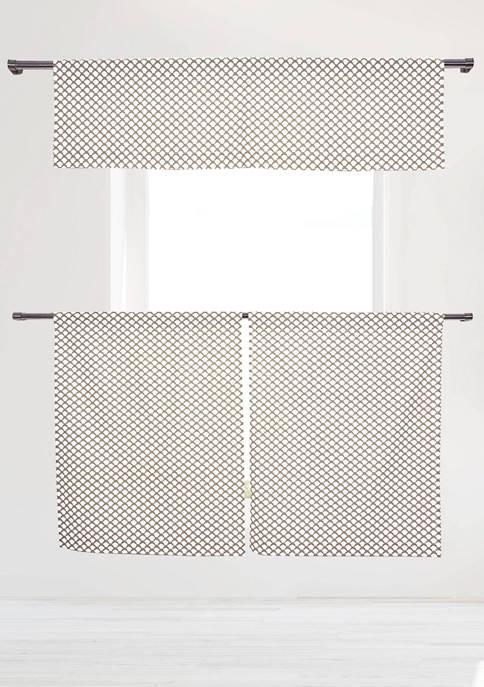 Duck River Textile Medici Print Cotton Kitchen Curtain