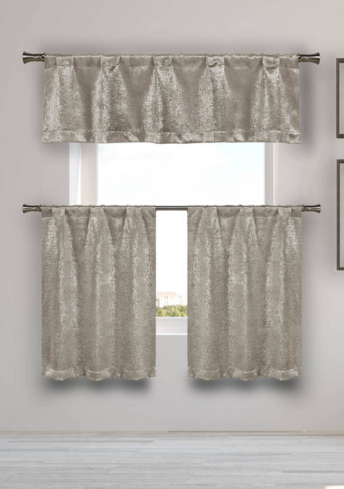 Kelvin Milly Solid Kitchen Curtain & Tier Set