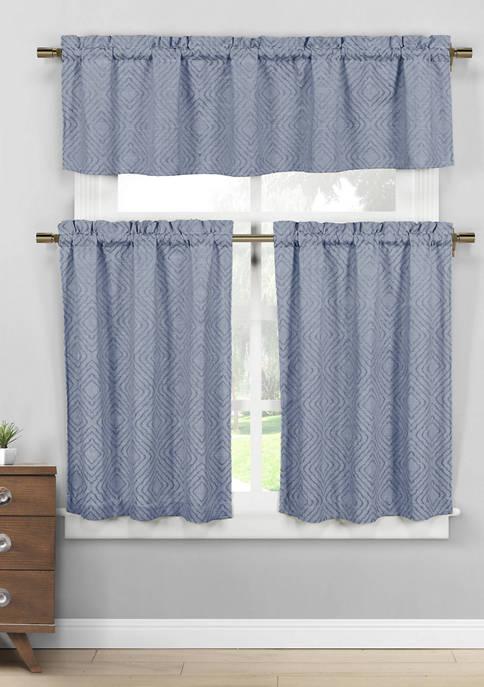 Duck River Textile Mira Solid Cotton Kitchen Curtain