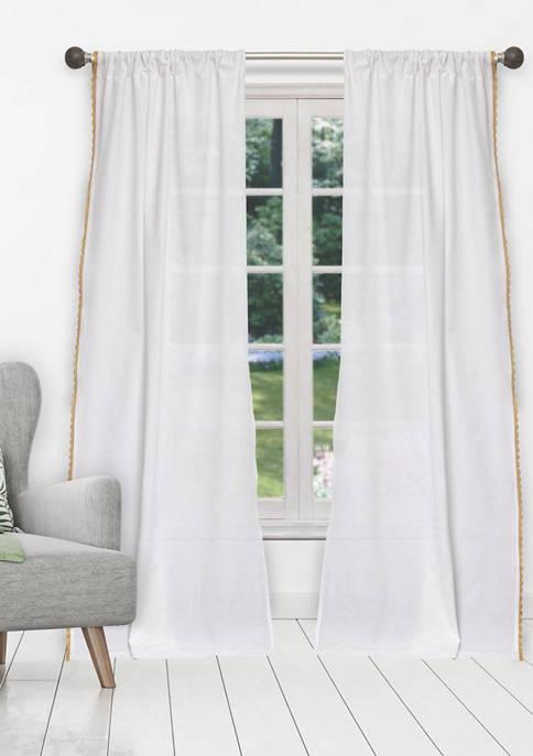 Home Maison Miriam Metallic Lace Border Cotton Window