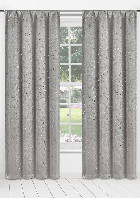 Kelvin Mistina Leaf Print Window Curtain Set