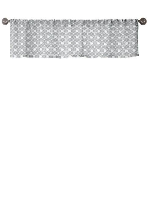 Duck River Textile Oralie Geometric Kitchen Valance