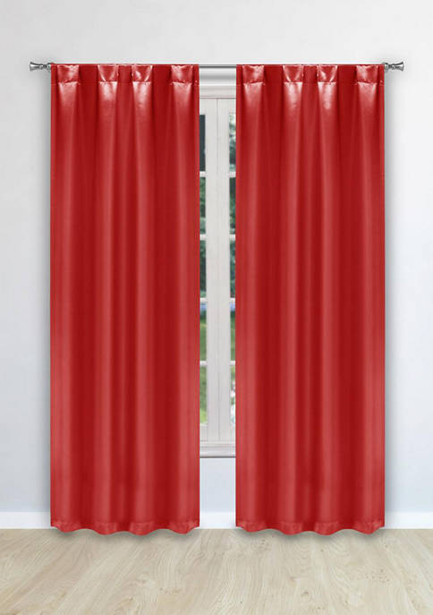 Home Maison Prisilla Solid Satin Look Window Curtain