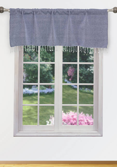 Home Maison Savi Solid Kitchen Valance