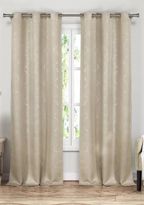 Stephanie Geometric Blackout Curtain Set