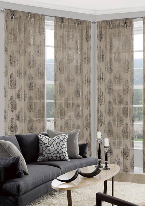 Home Maison Zainie Metallic Ombre Medallion Window Curtain