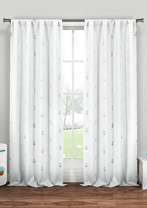 Ahoy Solid Window Curtain Set