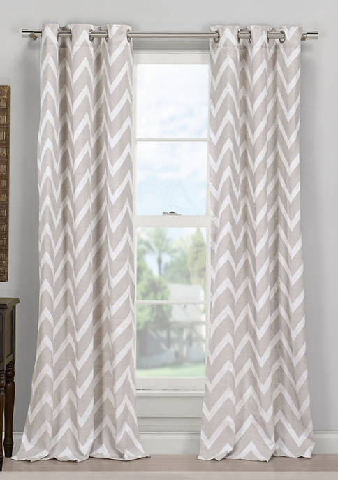 Behrakis Chevron Window Curtain Set