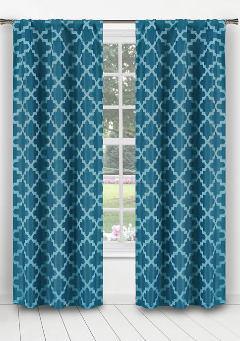Bryson Geometric Blackout Curtain Set
