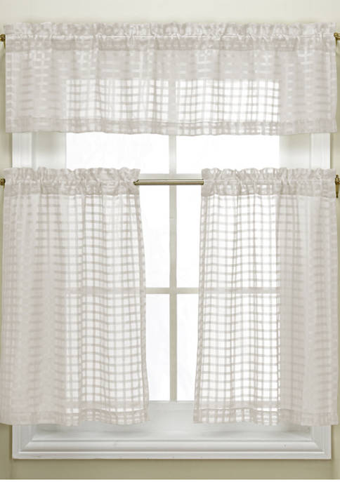 Duck River Textile Cleo Checked Semi Sheer Kitchen