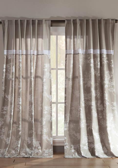 Duck River Textile Clara Floral Cotton Window Curtain