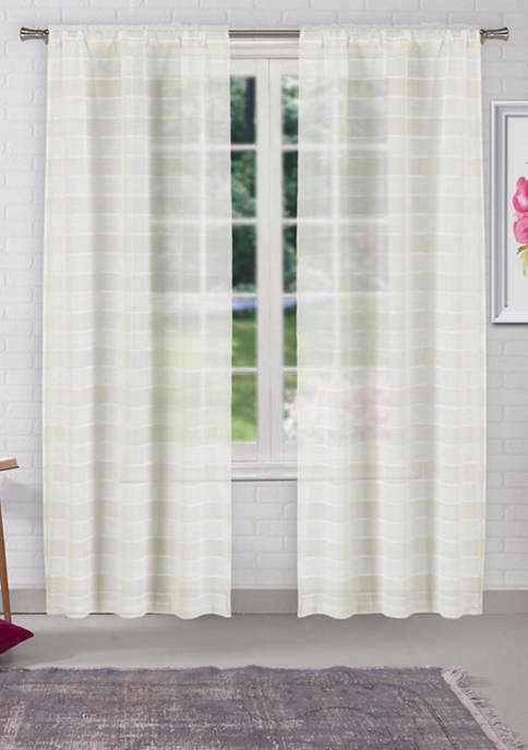 Lala + Bash Dakota Chenille Stripes Window Curtain