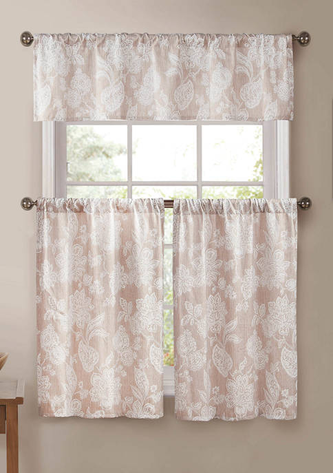 Duck River Textile Ewva Floral Kitchen Curtain and