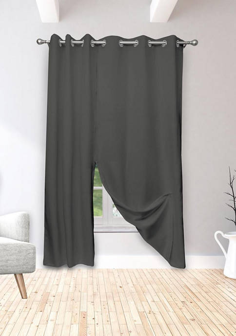 Mistina Solid Magnetic Blackout Curtain Set