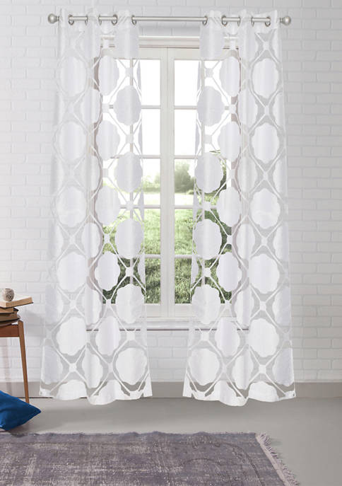 38 in x 84 in Kennellia Solid Window Curtain Set