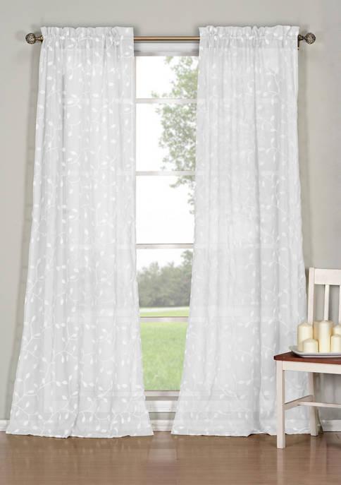 Duck River Textile Kerr Solid Window Curtain Set