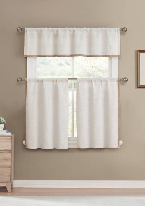 Koti Solid Kitchen Curtain and Tier Set