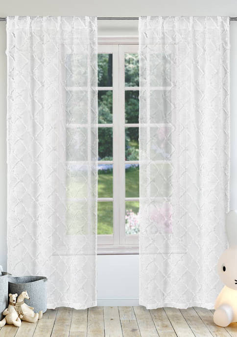 38 in x 96 in Lilly Solid Window Curtain Set