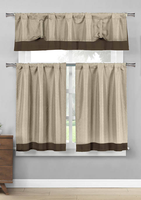 Max Solid Kitchen Curtain & Tier Set