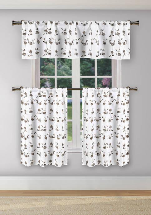 3 Piece Maelis Print Kitchen Curtain and Tier Set