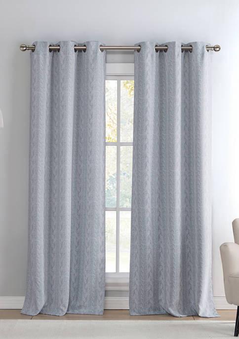 Kensie Set of 2 Maya Solid Blackout Curtains