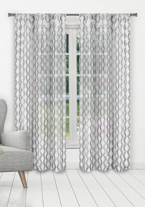 38 in x 84 in Mallory Geometric Window Curtain Set