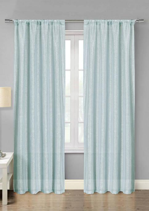 Kensie Set of 2 Isaac Metallic Window Curtains