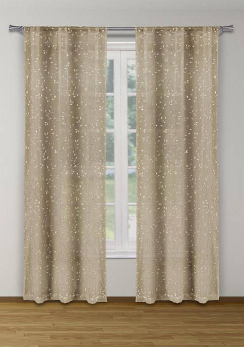 Home Maison Maddie Metallic Puff Print Leaves Window