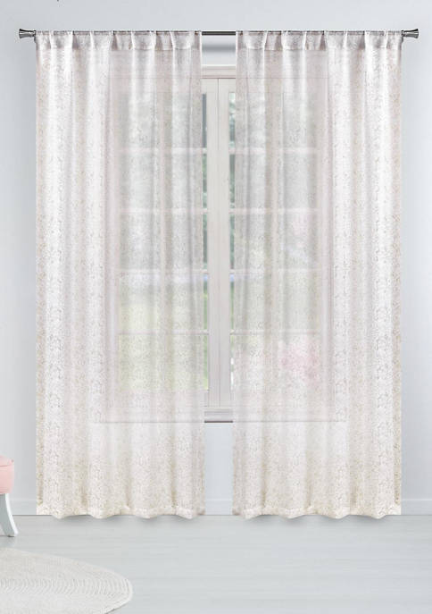 Set of 2 Millie Metallic Specks Window Curtains