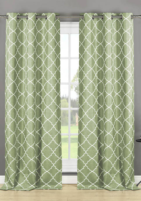 Set of 2 Nataly Geometric Window Curtains